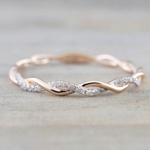 Jewelry - NEW! Rose Gold Delicate Twisted Midi Ring